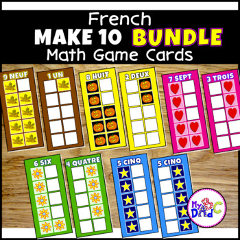 FRENCH Build 10 Math Game Cards BUNDLE