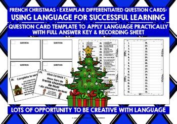 FRENCH CHRISTMAS NUMBERS 0-31 TASK CARDS