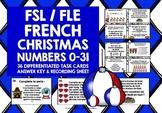 CHRISTMAS: FRENCH CHRISTMAS NUMBERS 0-31 TASK CARDS
