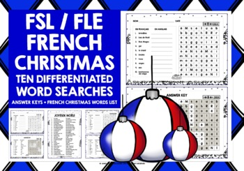 CHRISTMAS: FRENCH CHRISTMAS WORD SEARCHES