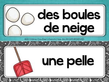 FRENCH WINTER WORD WALL - C'EST L'HIVER!