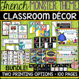 FRENCH CLASSROOM DECOR - MONSTER THEME (BACK-TO-SCHOOL/RENTRÉE SCOLAIRE)
