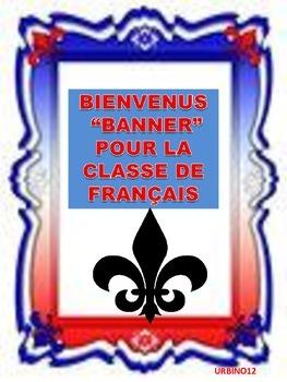 FRENCH CLASSROOM DISPLAY:  BIENVENUS BANNER