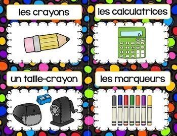 FRENCH CLASSROOM LABELS - LES ÉTIQUETTES DE CLASSE (68 labels)