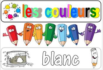 FRENCH COLORS LABELS / ETIQUETTES DE MOTS COULEURS