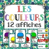 FRENCH COLOURS - LES COULEURS (12 POSTERS - 2 SIZES AVAILABLE)
