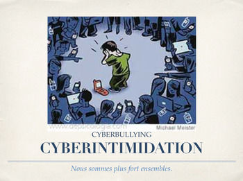*KEYNOTE*FRENCH CYBERINTIMIDATION (CYBERBULLYING) INTRODUCTION POWERPOINT