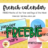 FRENCH Calendar Freebie - Months and Days