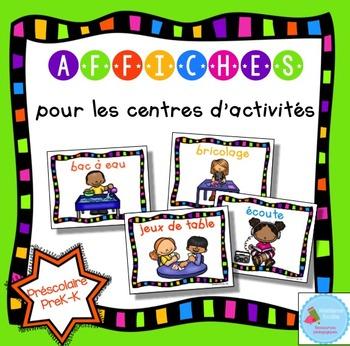 FRENCH Center Signs/ Affiches des centres d'activités
