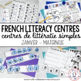 FRENCH Simple Literacy Centres - Centres de littératie (Ja