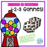 FRENCH Chewing gum numbers game FREEBIE/ Gratuit jeu de dé