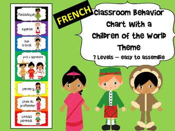 FRENCH - Children of the World themed Behavior Chart