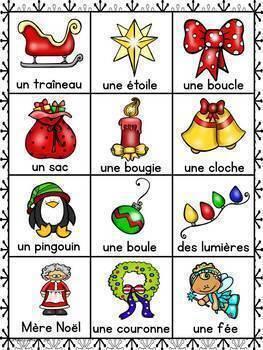 FRENCH Christmas BINGO / BINGO de Noël