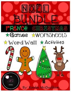 FRENCH Christmas activities BUNDLE : Les activités de Noël