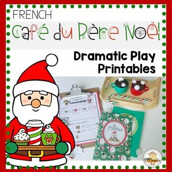 FRENCH Christmas Café Dramatic Play Printables