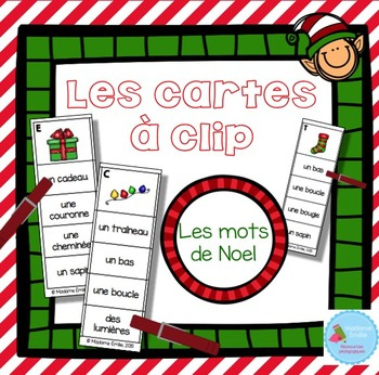 FRENCH {Christmas Clip cards}/ Cartes à clip {Noël}