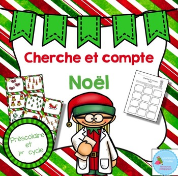 FRENCH Christmas Count the room/ Cherche et compte (Noël)