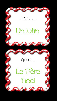FRENCH:  Christmas Game- J'ai...Qui a...?