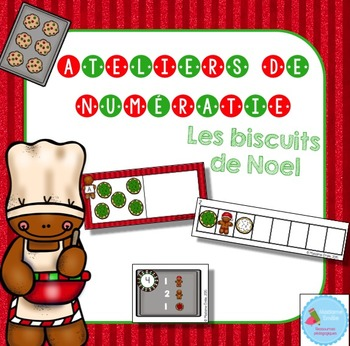 FRENCH Christmas Math Centers/ Ateliers numératie (biscuit
