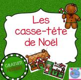 FRENCH Christmas Puzzles FREE/Casse-tete de Noël {Gratuit}