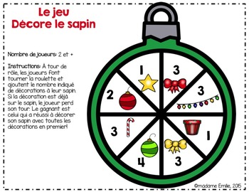 FRENCH Christmas Tree Game/ Jeu Décore le sapin