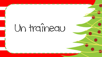 FRENCH:  Christmas Vocab Match-Up Game