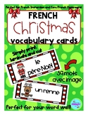 FRENCH Christmas Vocabulary Cards - Vocabulaire de Noël