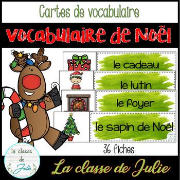 ☀️FRENCH☀️ Christmas Vocabulary - Mots de vocabulaire - Noël