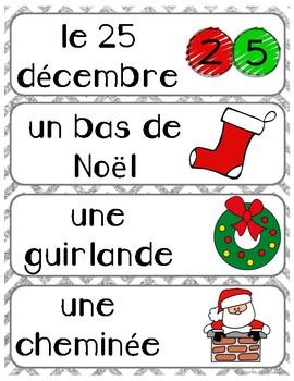 FRENCH Christmas Word Wall: Noël
