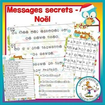 FRENCH Christmas secret messages / Messages secrets - Noël