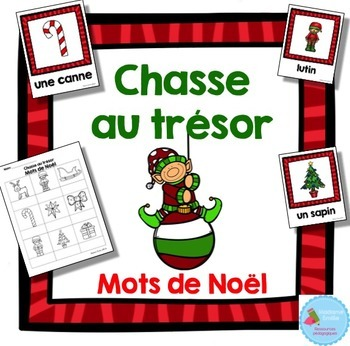 FRENCH {Christmas words Scavenger Hunt}/ Noël {chasse aux mots}