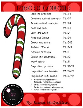 FRENCH Christmas worksheets and activities: Les activités de Noël
