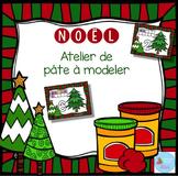FRENCH Chritmas Playdough Mats/ Nombres de Noël en pâte à modeler