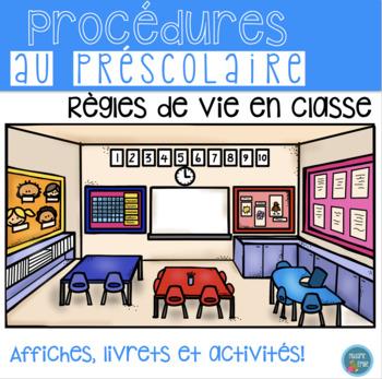 FRENCH Class Rules Posters, Activities/ Règles de vie (Affichage et activités)