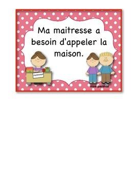 FRENCH:  Classroom Behavior Chart