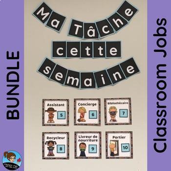 FRENCH Classroom Jobs BUNDLE: Ma tâche cette semaine