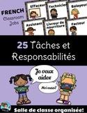 FRENCH Classroom Jobs Cards - Tâches et Responsabilités