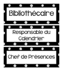 FRENCH Classroom Jobs and Responsabilities