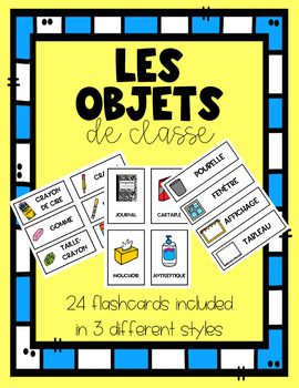 FRENCH Classroom Objects Flashcards