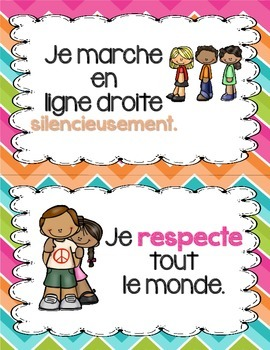 FRENCH Classroom Rules and Manners Posters - Les règles et manières de classe