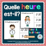 Quelle heure est-il? Telling time in FRENCH Clip Cards