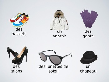 Clothing Activity - Test Your Memory (French)
