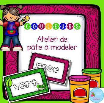 FRENCH Colors Playdough Mats/ Couleurs en pâte à modeler