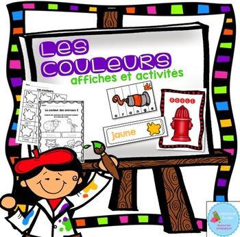 FRENCH Colors activity pack/ Les couleurs (affiches et activités)
