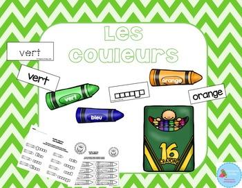 FRENCH {Colors center}/ Les couleurs {Atelier littératie}