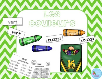 FRENCH {Colors center}/ Les couleurs {Atelier littératie}