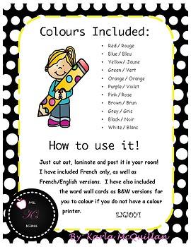 FRENCH Colour Bundle: Les Couleurs