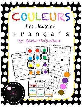 FRENCH Colour Games/Activities: Les Jeux/Activités Couleurs