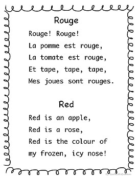 FRENCH Colour Workbook: Les Couleurs