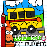 FRENCH Colour by Number - School